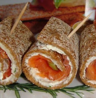 Рулетики с семгой и корнишонами - Страница 5 : Закуски и бутерброды