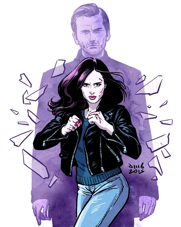 davidmbuisan: So addicted to Jessica Jones! Just 3 episodes left! http://instagram.com/davidmbuisan http://www.facebook.com/dmbuisan Art by David M. Buisán All Hell's Kitchen breaks loose.