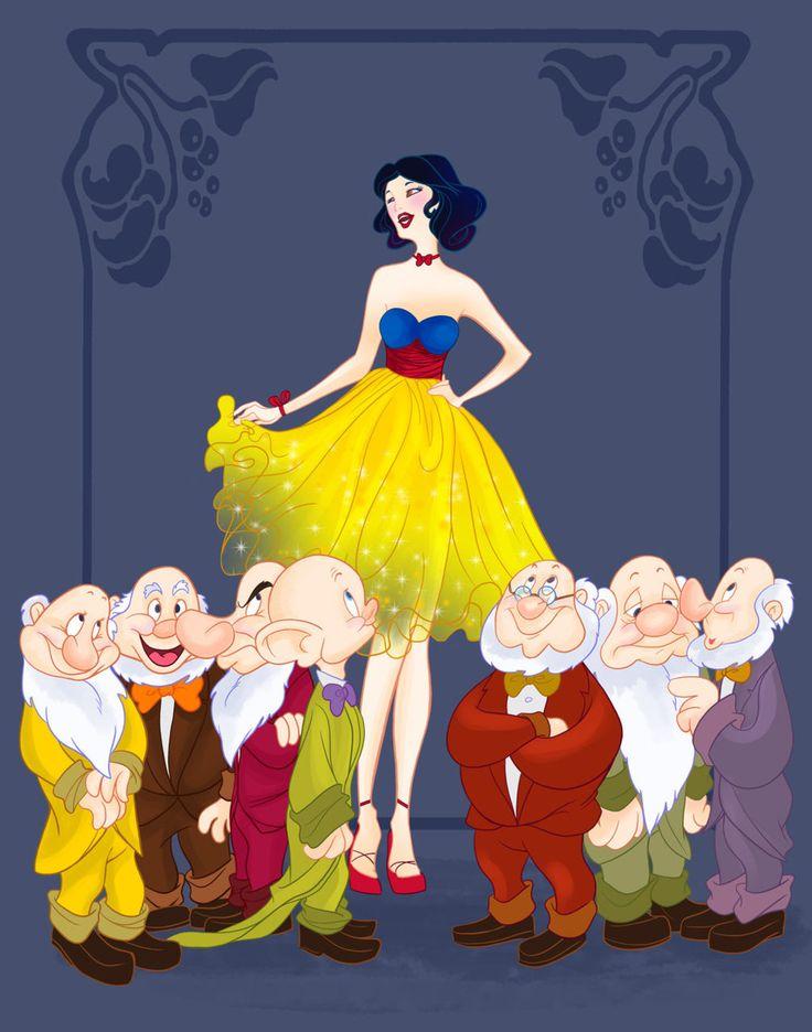 disney princesses go to prom... aww look at Dopey!!Snowwhite, Disney Princesses, Prom Photos, Disney Couples, Disney Prom, Disney Inspiration, Seven Dwarfs, Disney Character, Snow White