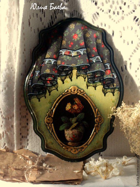"""Картины цветов ручной работы. Ярмарка Мастеров - ручная работа. Купить Панно """" Flower """". Handmade. Панно, имитация"""