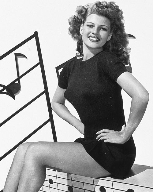 Rita Hayworth -- after painful reinvention by Hollywood embodies the classic Hollywood interpretation of feminine beauty.  I can't argue, but it ain't natural.