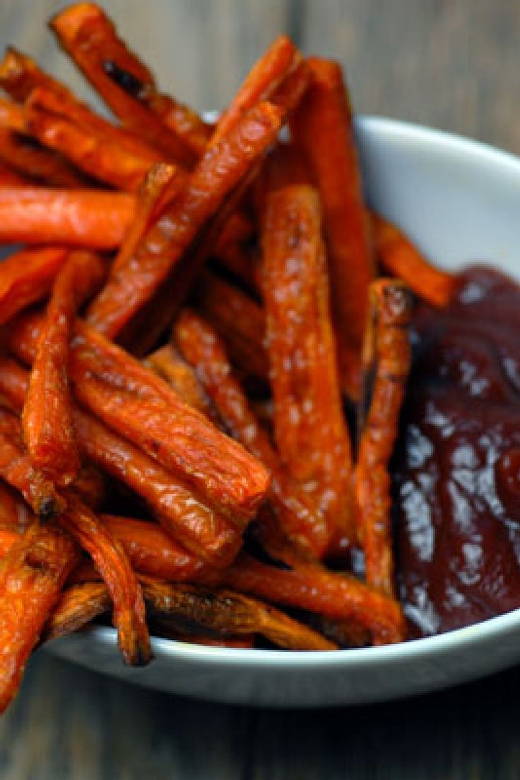 Cumin Carrot Fries. I didn't have cumin so I added coriander and it was delicious. I suggest less cooking time as well!