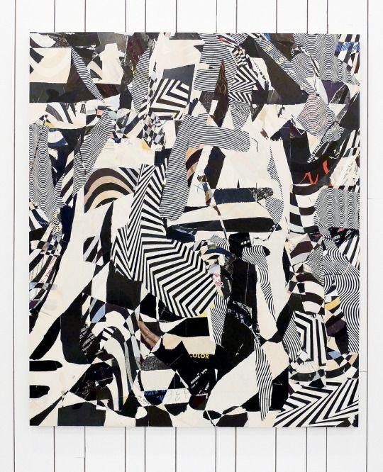 Nathaniel Axel  Pazuzu, 2015  Collage on panel  72 x 59½ inches