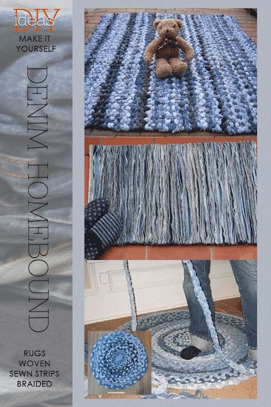 DIY Restyle - Denim Homebound                        All inspirational images |  Pinterest       Denim is clearly one of the most intere...