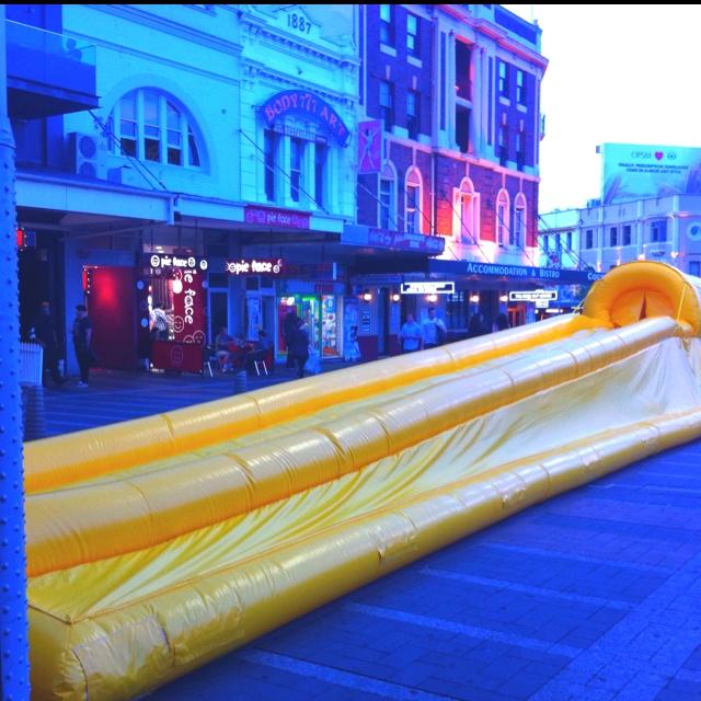 Gigantuous Slip n Slide! Taylor Square