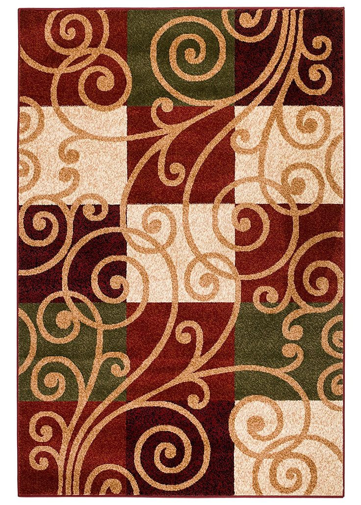 NEW Summit Elite no. 64 Geometric Contemporary Area Rug Swirls Scrolls Area Rug  (22''inch x 35'' Scatter Rug Door Mat Size ) -- SPECIAL OFFER AHEAD! : FREE Home Decor