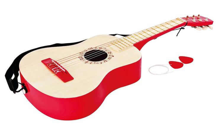 Hape Early Melodies Vibrant Red Guitar Music Set