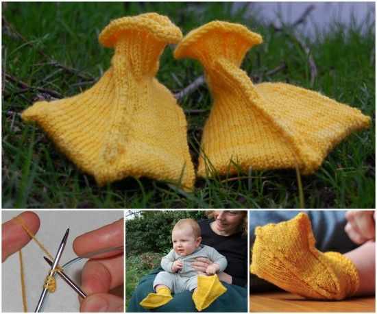 Duck Webbed Feet Free Knitted Pattern - duck booties free knitting pattern