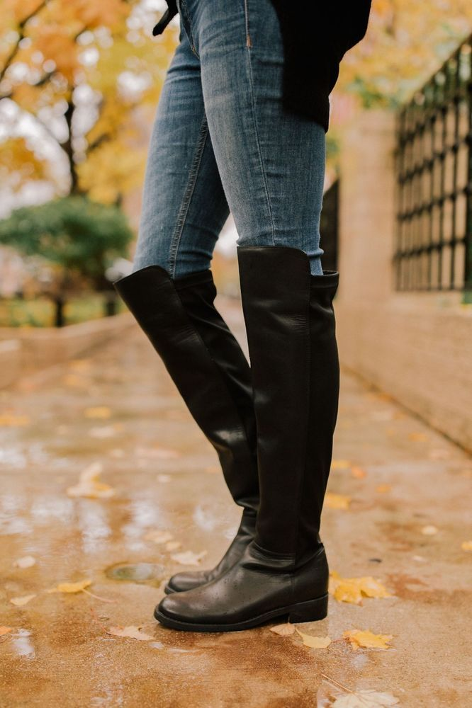 253b5f04ff6 WOMENS BLONDO BOOTS Olivia Knee High Black Riding Leather Tall Boot ...