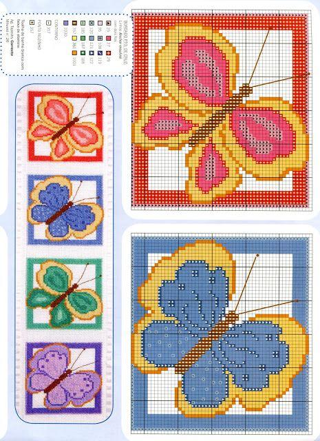 18 best schemi punto croce farfalle images on pinterest for Punto croce farfalle