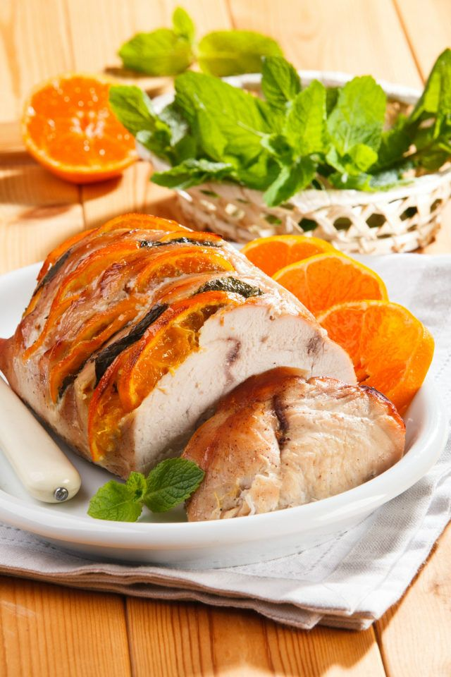 Fillet of turkey with mandarins — A light and nutritious dish for your guests.