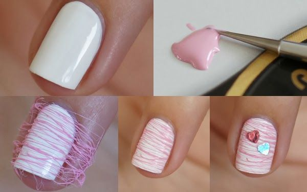 DIY Nail Art   Valentines Cotton Candy ~ Beautyill   Beautyblog met nail art, nagellak, make-up reviews en meer!
