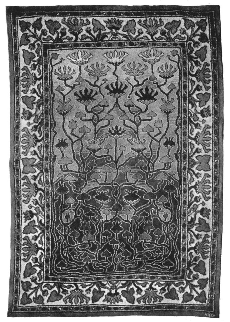 Carpet design by Hans Karl Eduard von Berlepsch-Valendàs, produced in 1898.