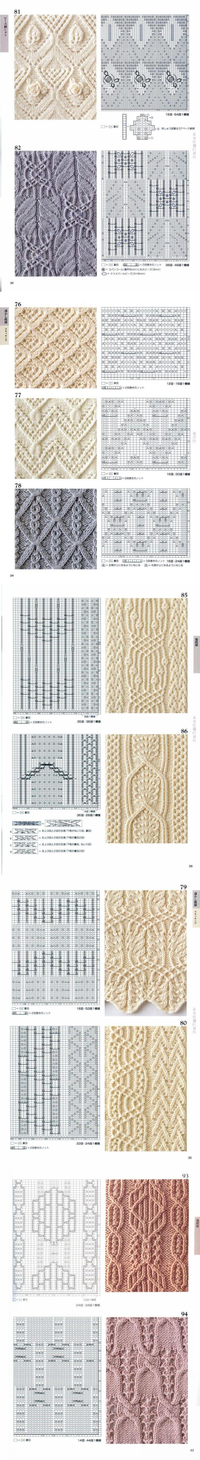Japonské síťované vzory - část №4 - Módní pletení