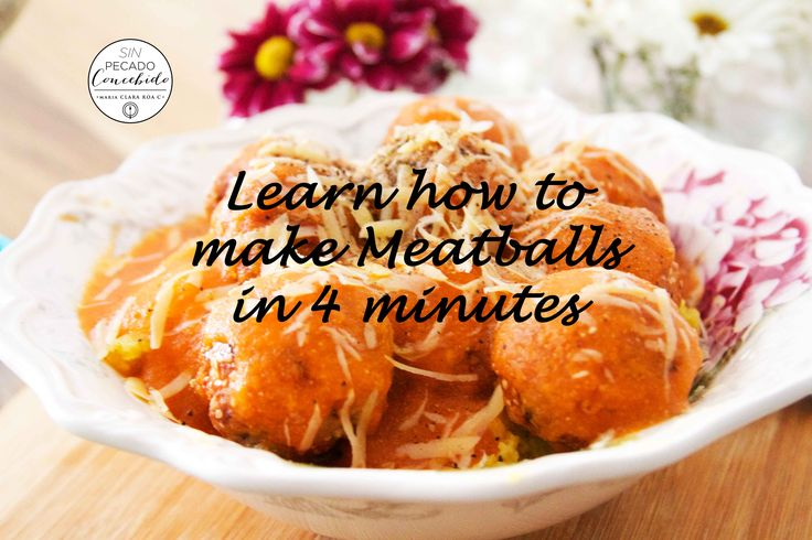 Amazing meatballs, just 4 minutes video. https://www.youtube.com/watch?v=RJNSlkZsQwo