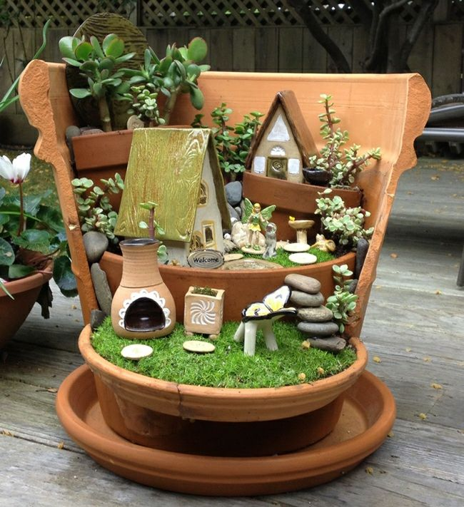 17 réaliser un joli mini jardin
