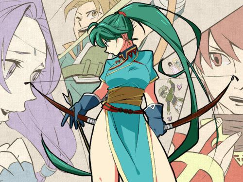 Lyn from the first Fire Emblem game to be released in America.