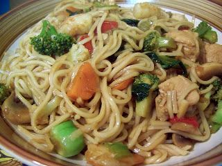 Passion cuisine...    de mère en fille: Chow Mein à la cantonaise