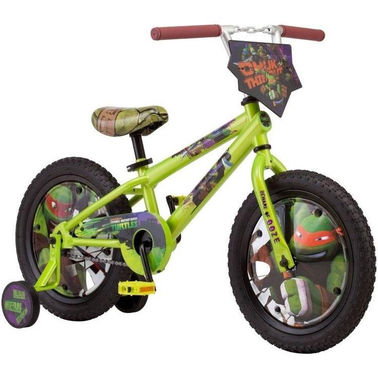 16 Inch Boys Bike Teenage Mutant Ninja Turtle Nunchuck Handlebar Training Wheels #TMNT