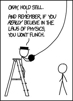 The laws of physics are fun to try to understand, but as an organism with incredibly delicate eyes who evolved in a world full of sharp objects, I have an awful lot of trust in biology's calibration of my flinch reflex.