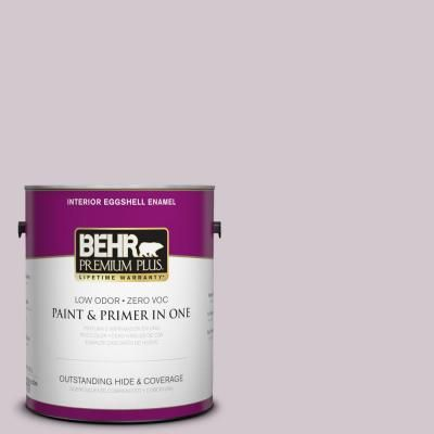 BEHR Premium Plus 1-gal. #N110-1 Dusty Lilac Eggshell Enamel Interior Paint