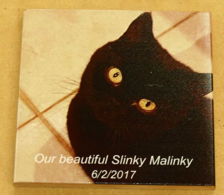 Memorial tile custom printed with photo and your message. Layout prepared from your order is sent to you for approval