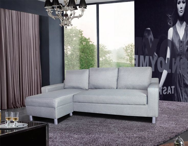 US Pride Furniture Kachy Fabric Convertible Sleeper Sectional Sofa Bed & Facing-Left Chaise, Gray. Set includes: One (1) sofa section, and one (1) chaise section. Materials: Fabric, wood, PVC foam. Seat dimensions: 16 inches high x 21 inches deep. Sofa bed dimensions: 71 inches wide x 45 inches deep. Sectional sofa dimensions: 33 inches high x 83 inches wide x 51 inches deep.