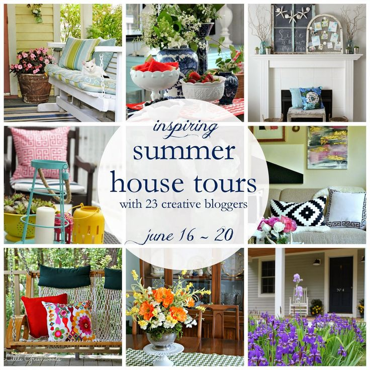 Take an online tour of 23 inspiring blogger homes all decked out for summer!