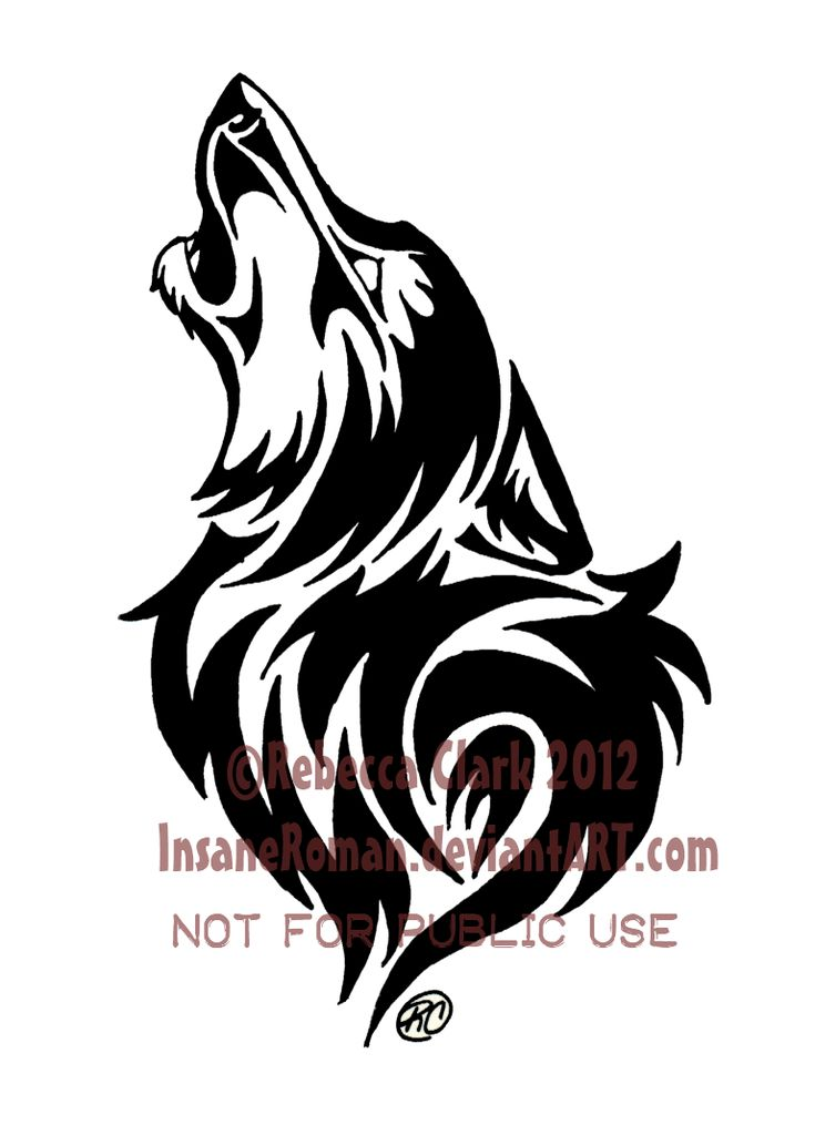 Howling Wolf Tribal by InsaneRoman.deviantart.com on @deviantART