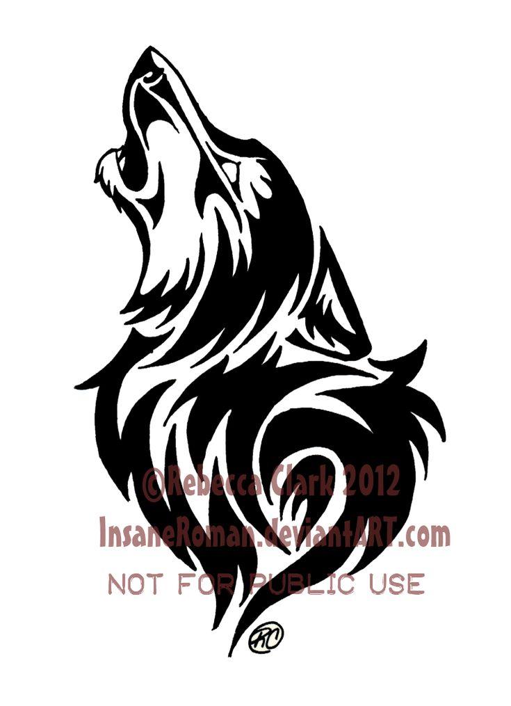 Howling Wolf Tribal by InsaneRoman.deviantart.com on @deviantART