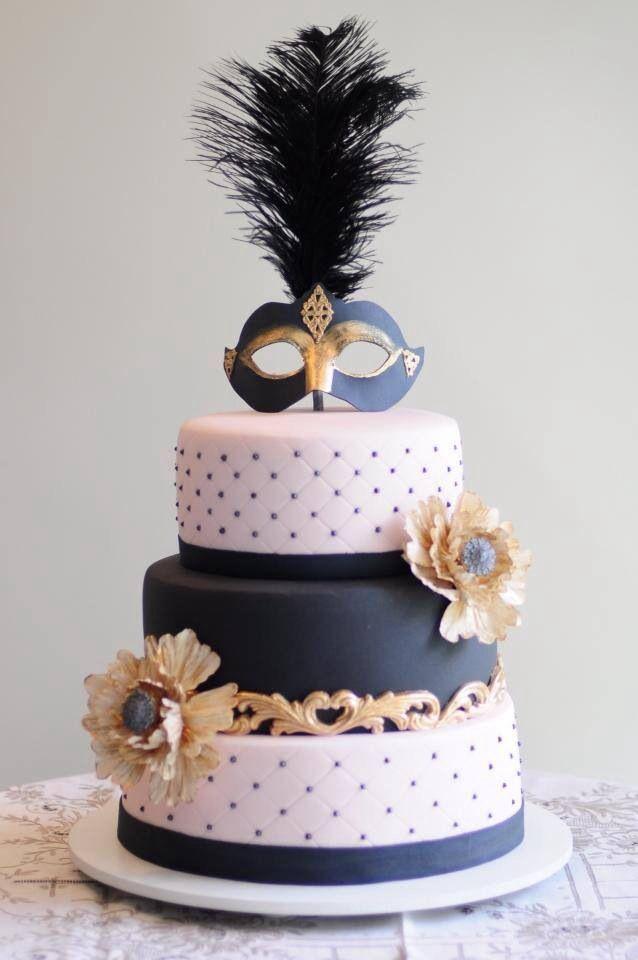Mask Cake In 2019 Masquerade Cakes Masquerade Party