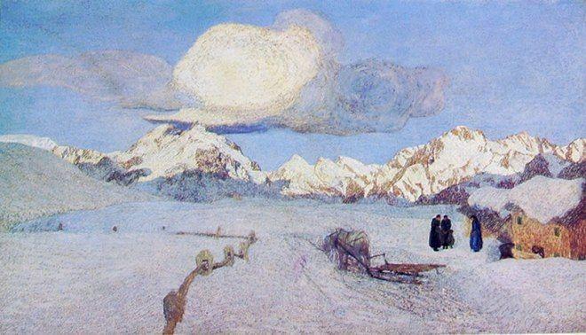 Giovanni Segantini (1858-1899) - Il Trittico della Natura: La Morte - 1896-1899 - Saint Moritz, Museo Segantini