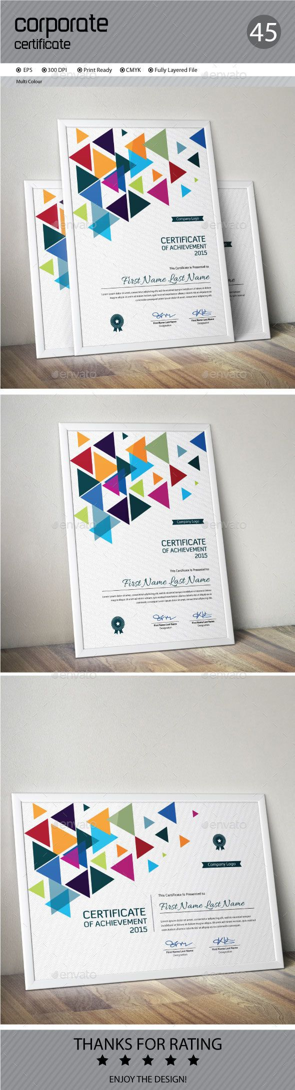 Certificate Template Vector EPS Download here httpgraphicrivernet