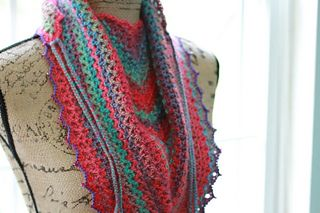 """similar to the """"road trip scarf"""" by zooty owl this one is called the v-eekender scarf"""