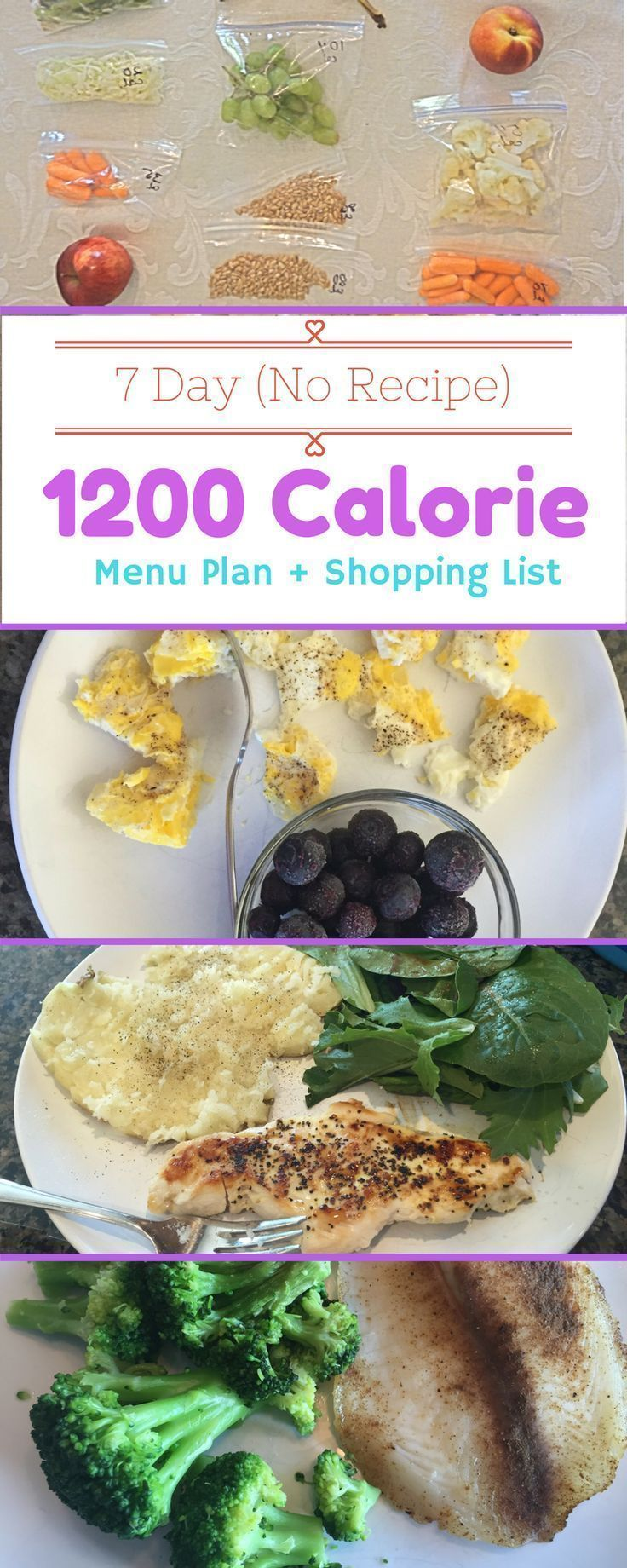 7 Day Weight Loss Menu Plan to help you get Healthier within the next week.  No …