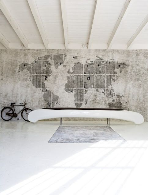129 best world map wallpaper images on pinterest world maps world papier peint map design original rustique news planet by christian benini walldeco gumiabroncs Gallery