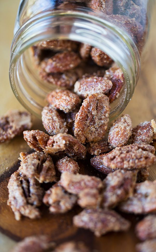 Maple Cinnamon Spiced Nuts - Table for Two