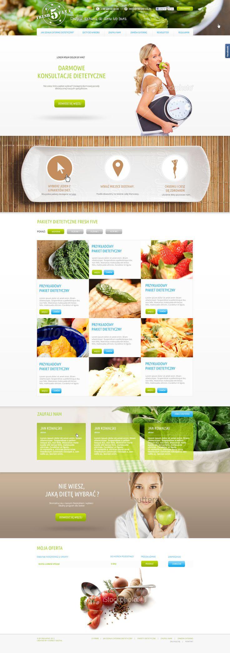 Fresh-Five website design.
