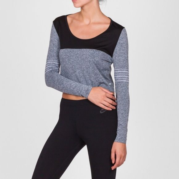 Nike Dri Fit Knit  Crop Top The Dri-FIT Knit Epic Crew Women's Training Top features a wide crew neck and seamless design for a relaxed fit and comfortable movement during your workouts. Nike Tops Crop Tops