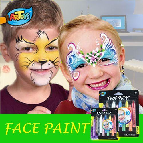 Купить Artoys ослепительная игрушки цветные лицо краской карандаш палочки   упаковка из 10   идеально для принцессы, цирк, фея или другие тема ну вечеринкуи другие товары категории Игрушки для рисованияв магазине YouCare Shop No.1наAliExpress. Игрушки для рисования