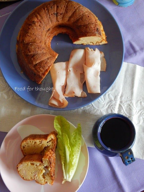 Food for thought: Αλμυρό κέικ με γαλοπούλα και τυριά