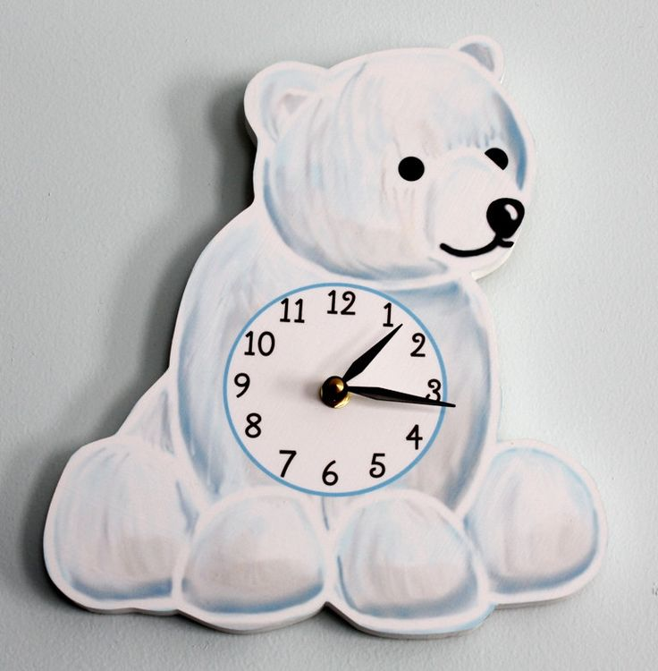 Polar Bear Wooden WALL CLOCK for Kids Bedroom Baby Nursery   45 00  via  Etsy. 17 Best ideas about Kids Wall Clocks on Pinterest   Happy shark