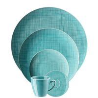 Rosenthal 5 Piece Place Setting (5 pps) Rosenthal Classic Mesh Aqua, Dinnerware