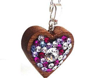 #heartpendantooak #heartnecklaceooak #pendantnecklace #clustercrystalooak #crystalwoodsilver #woodsilvernecklace #silvernecklaceooak #swarovskinecklace #swarovskiooak #loveheartpendant #uniquejewelrygifts #valentinesdaygifts #silverwoodjewelry