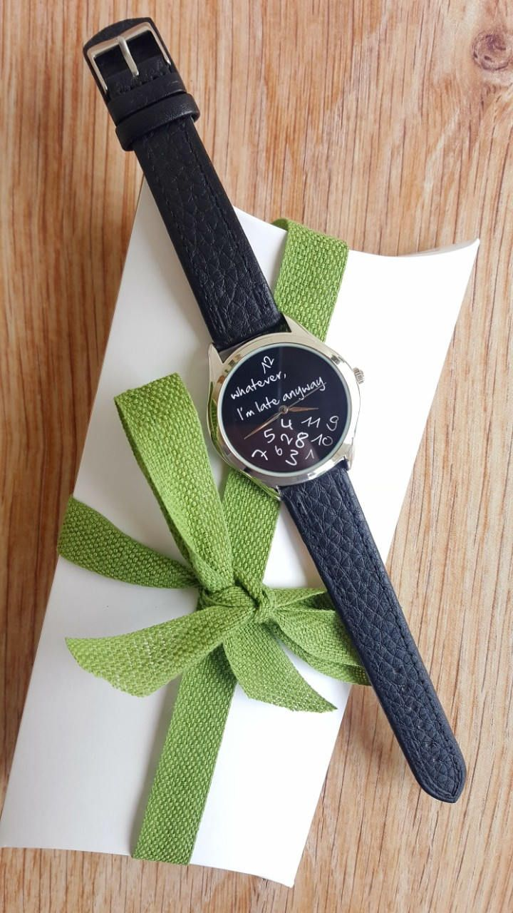 "Minimalist Black ""I'm Late Anyway"" Watch, Fun Statement Watch, Handmade Watch, Fashion Watch, Unisex Watch, Women's Jewellery, Ideal Gift. by IrishFashionWatches on Etsy"