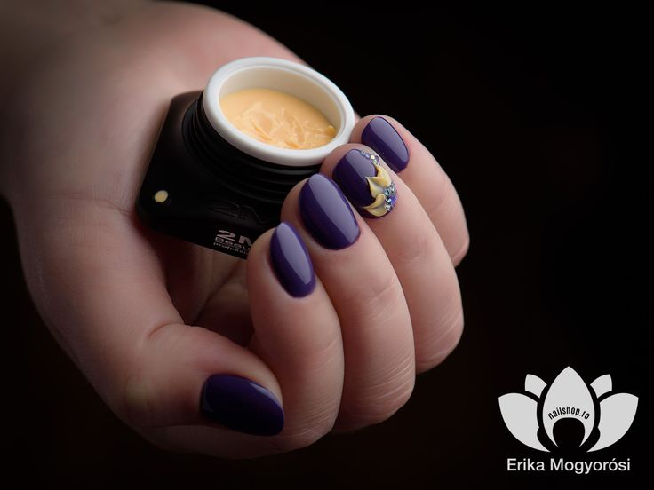#lovely #mininails #gellack #purple #coloroftheyear #lacegelflower