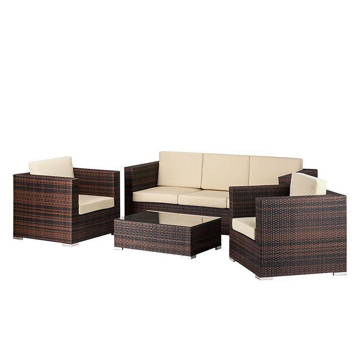 Rattan Lounge Grau sdatec.com