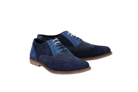 Mens Tri Suede Colour Oxford Blue Brogues | Jacksin Shoes - Our Singh collection is inspired by the Sikh soldiers who fought for Britain during both World Wars. Full of colours and beautiful styles don't you think? RRP £79.99 - pinned by Wyatt Shoe Shop