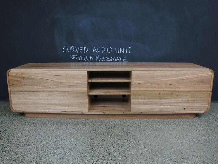 Recycled Messmate Timber Audio Visual Cabinet.