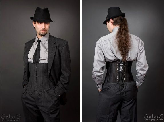 Men's corset from Bizarre Boudoir on Etsy.